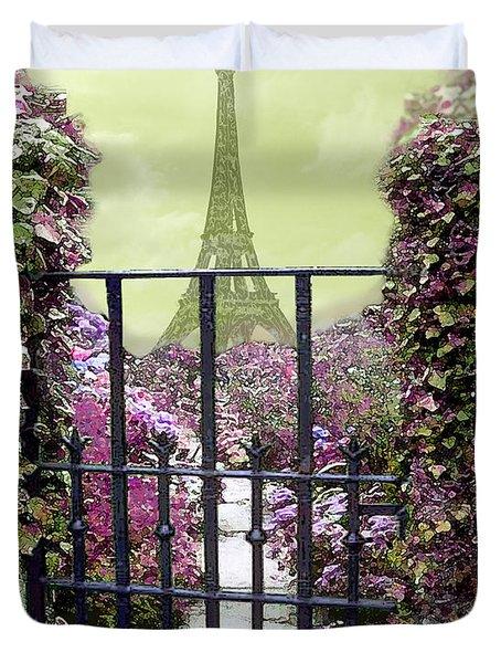 Eiffel Garden Duvet Cover