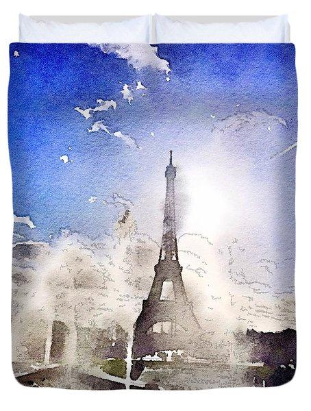 Eiffel During Summer Duvet Cover