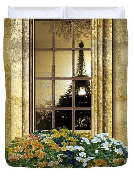 Eiffel Reflection Duvet Cover