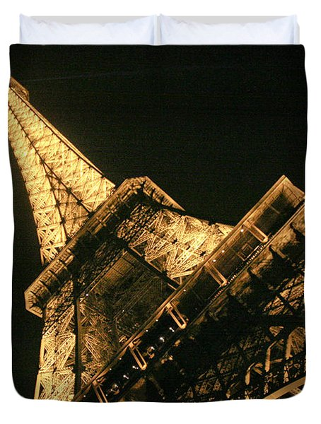 Duvet Cover featuring the photograph Eiffel by Silvia Bruno