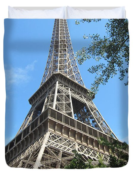 Duvet Cover featuring the photograph Eiffel Tower - 2 by Pema Hou