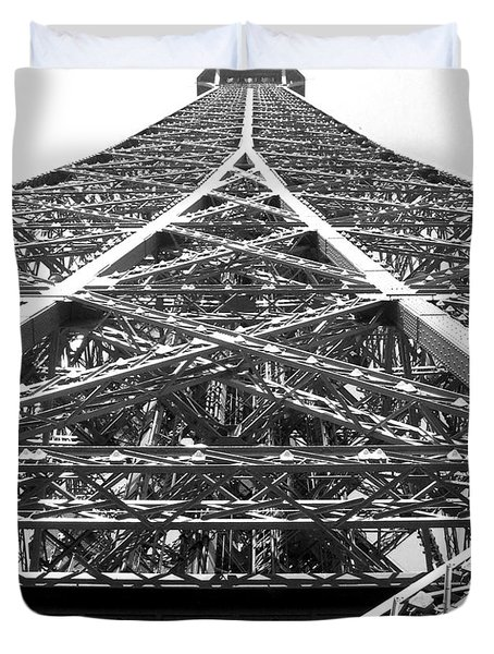 Eiffel Tower Duvet Cover by Andrea Anderegg