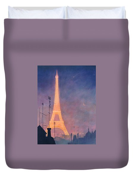 Eiffel Tower Duvet Cover by Blue Sky