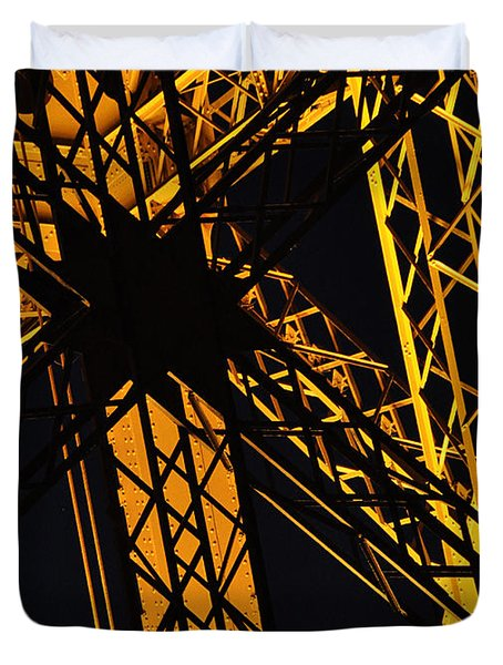 Eiffel Tower Detail Duvet Cover