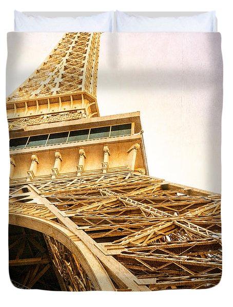Eiffel Tower Duvet Cover by Edward Fielding