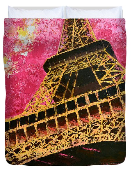 Eiffel Tower Iconic Structure Duvet Cover