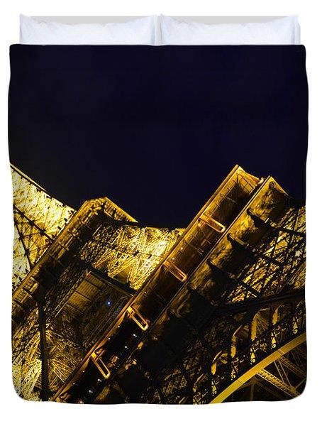 Eiffel Tower Paris France Side Duvet Cover by Patricia Awapara