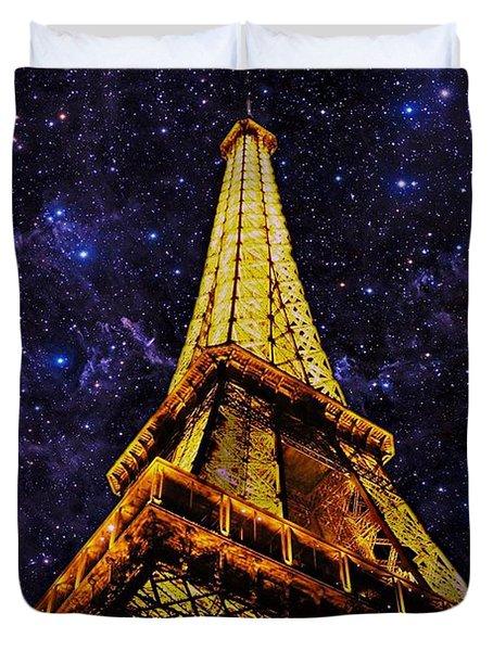 Eiffel Tower Photographic Art Duvet Cover