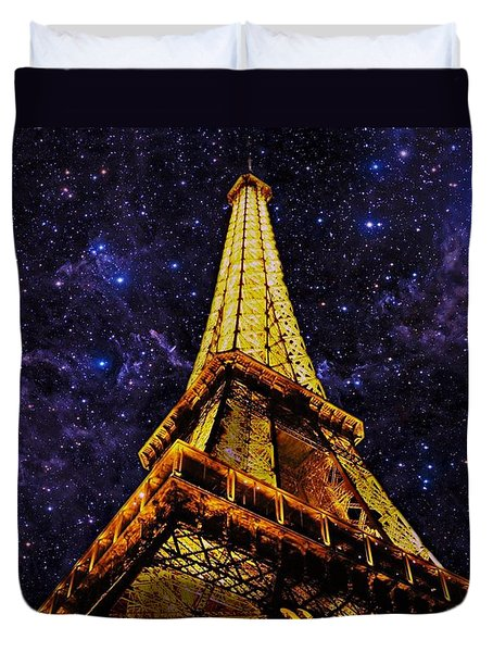 Eiffel Tower Photographic Art Duvet Cover