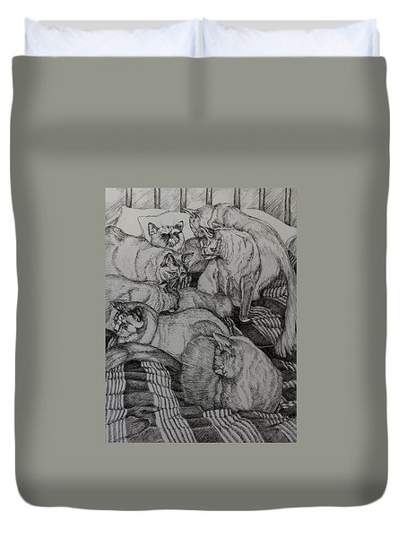Eight Is Enough Duvet Cover by Janet Felts