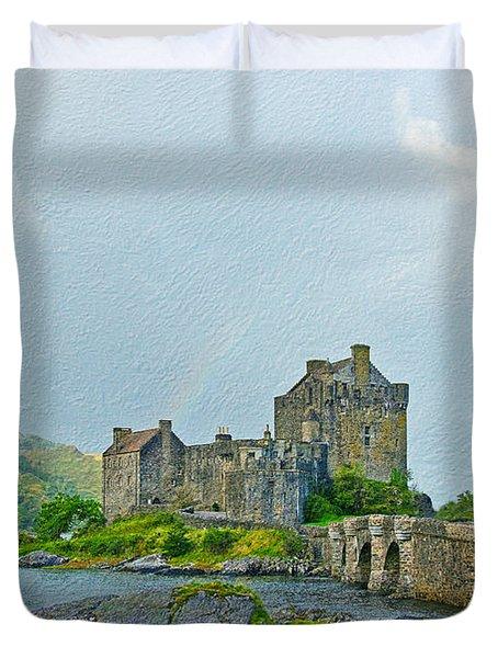 Eilean Donan Castle Textured 2 Duvet Cover