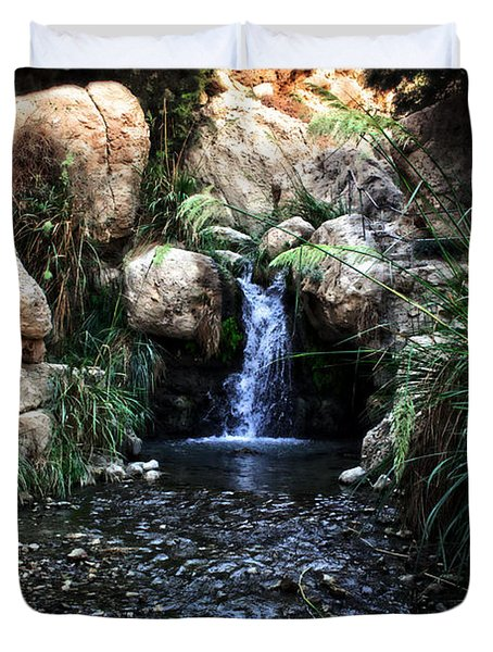 Ein Gedi Springs Duvet Cover by Doc Braham