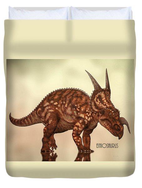 Einiosaurus Duvet Cover by Bob Orsillo