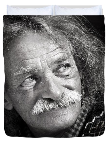 Einstein Hair Duvet Cover