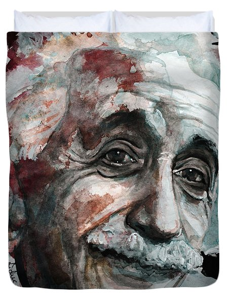 Einstein  Duvet Cover by Laur Iduc