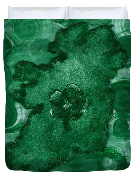 Eire Heart Of Ireland Duvet Cover by Alys Caviness-Gober