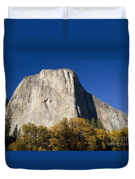 Duvet Cover featuring the photograph El Capitan In Yosemite National Park by David Millenheft