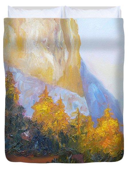 El Capitan Light Duvet Cover by Carolyn Jarvis