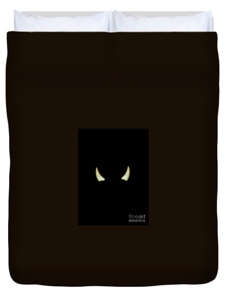 Duvet Cover featuring the photograph El Diablo by Angela J Wright