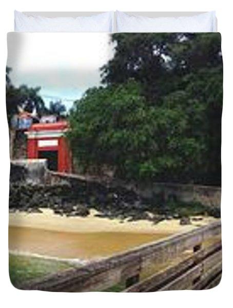 El Morro Park Duvet Cover by Carey Chen