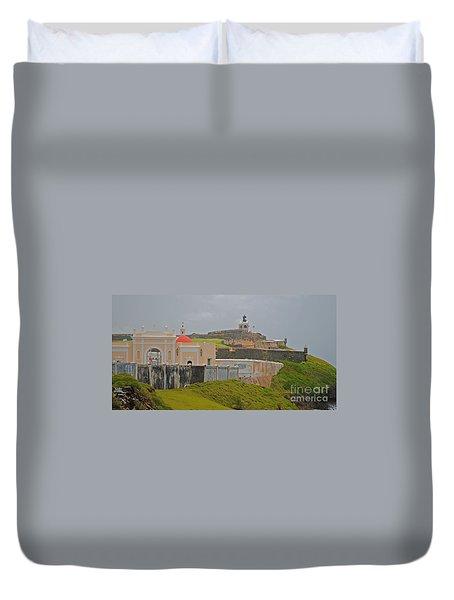 Scenic El Morro Duvet Cover