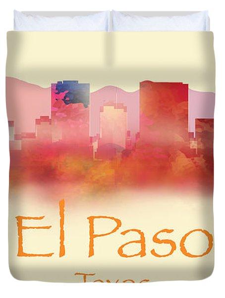 El Paso Texas Skyline IIi Duvet Cover