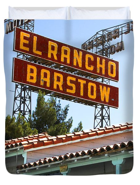 El Rancho Motel - Barstow Duvet Cover