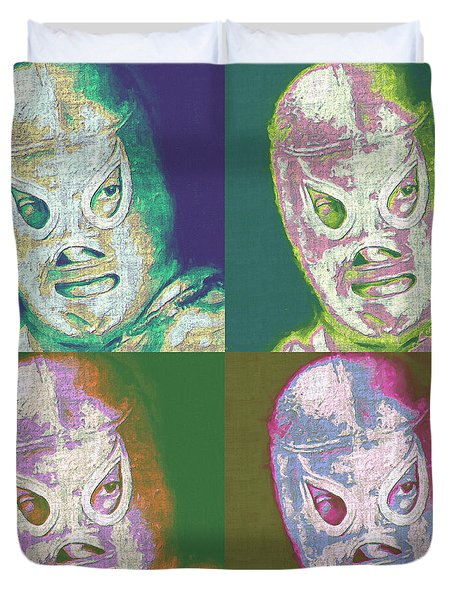 El Santo The Masked Wrestler Four 20130218 Duvet Cover