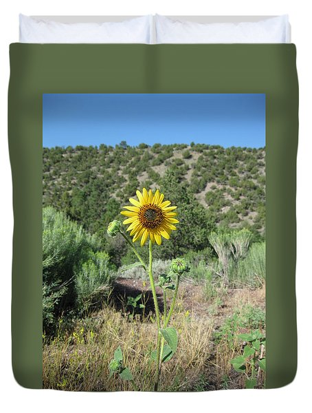 Elated Sunflower Duvet Cover