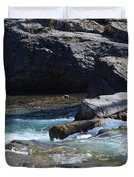 Elbow Falls Landscape Duvet Cover
