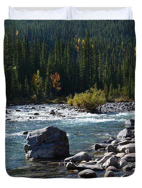 Elbow River Rock Art Duvet Cover
