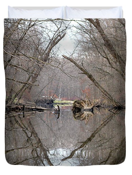 Duvet Cover featuring the photograph Eldon's Reflection by Bruce Patrick Smith