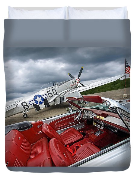 Eleanor Cockpit With P51 Mustang Duvet Cover