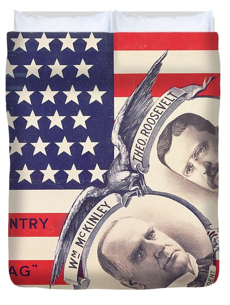 Electoral Poster For The American Presidential Election Of 1900 Duvet Cover by American School