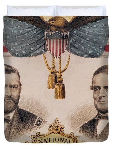 Electoral Poster For The Usa Presidential Election Of 1868 Duvet Cover