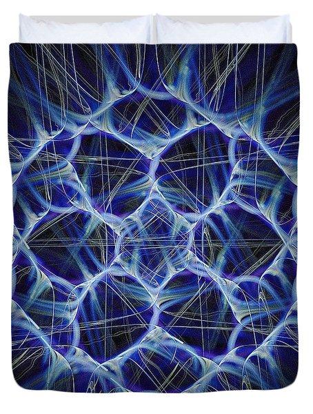 Electric Blue Duvet Cover by Anastasiya Malakhova
