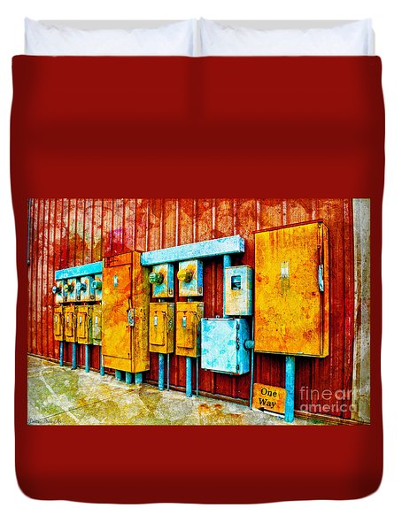 Electrical Boxes Iv Duvet Cover