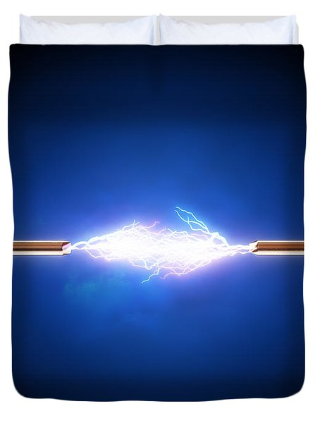 Electric Current / Energy / Transfer Duvet Cover