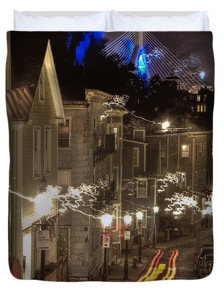 Electrified Boston Duvet Cover by Joann Vitali