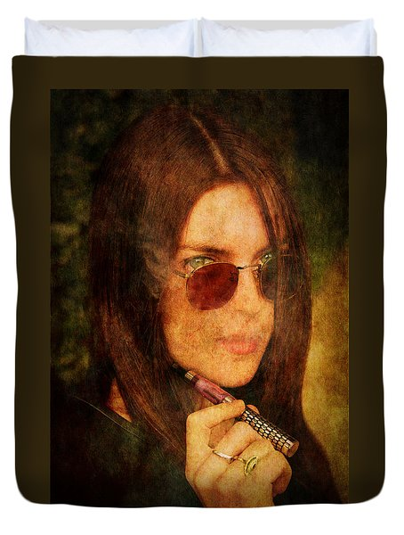 Electronic Smoking Duvet Cover by Loriental Photography