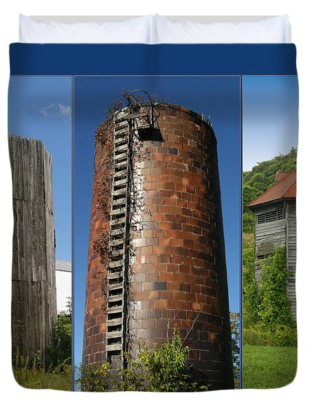 Elegy To Family Farms Duvet Cover by Carol Lynn Coronios