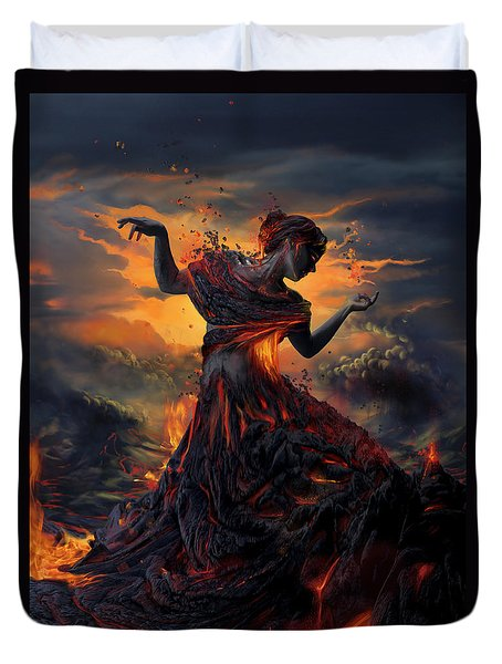 Elements - Fire Duvet Cover by Cassiopeia Art