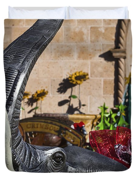 Elephant Celebration Duvet Cover by Kathy Clark
