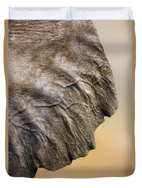 Elephant Ear Close-up Duvet Cover by Johan Swanepoel