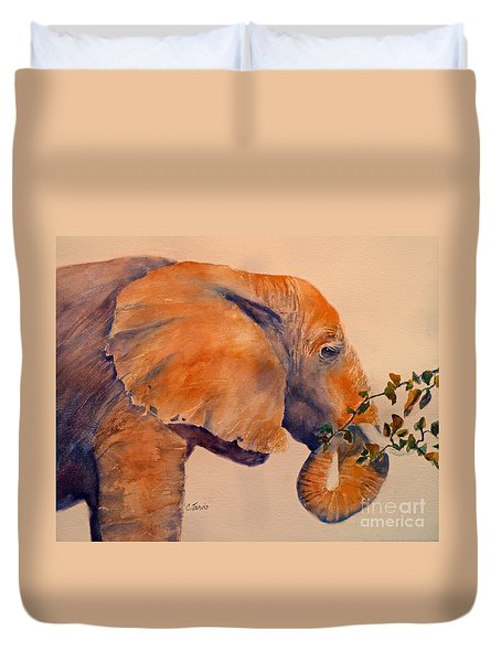 Elephant Eating Duvet Cover