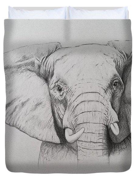 Elephant Duvet Cover by Ele Grafton