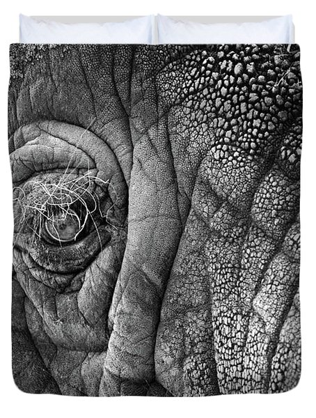 Elephant Eye Duvet Cover by Sebastian Musial