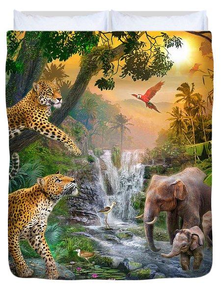 Elephant Falls Duvet Cover by Jan Patrik Krasny