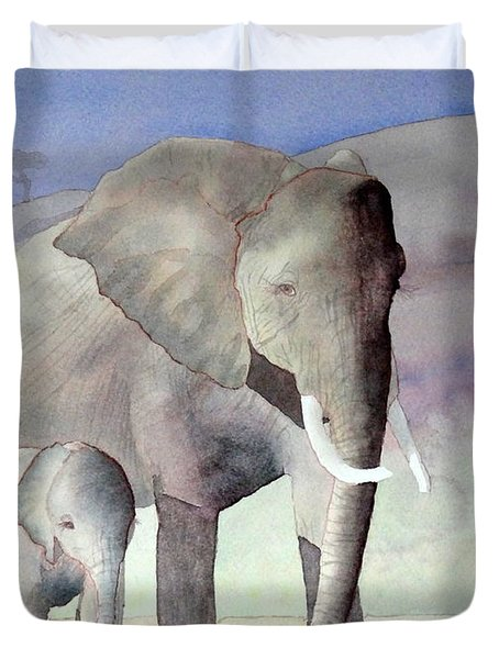 Elephant Family Duvet Cover