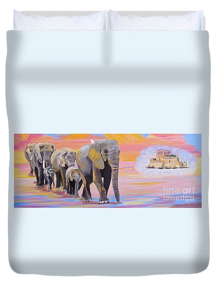 Elephant Fantasy Must Open Duvet Cover